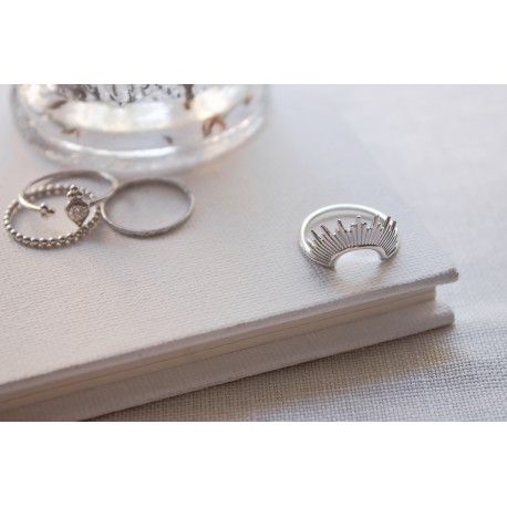 Sunrise Silver Ring